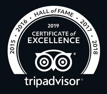 Certifikát výjimečnosti 2019 TripAdvisor Bugsy's Bar