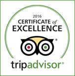 Certifikát výjimečnosti 2016 TripAdvisor Bugsy's Bar