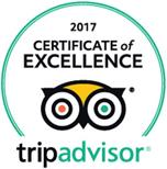 Certifikát výjimečnosti 2017 TripAdvisor Bugsy's Bar